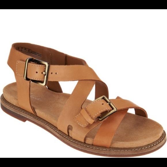 Clarks Artisan Tan Leather Corsio Bambi Sandals New